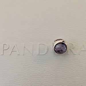 Pandora Radiant Droplet Lavender CZ Charm (purple)